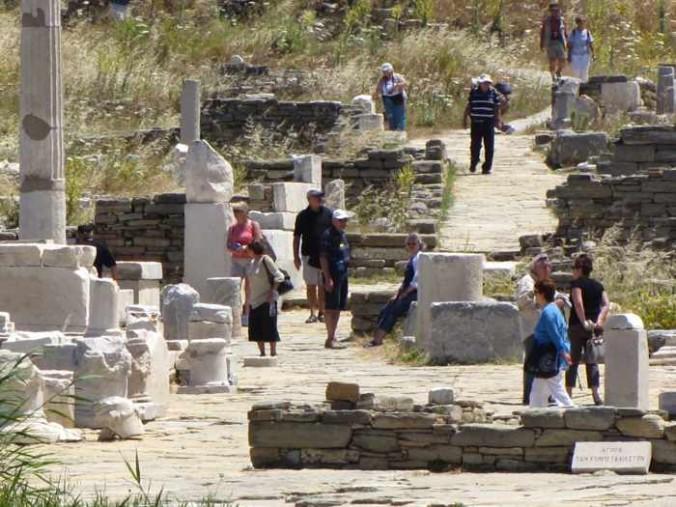 the ruins at Delos island