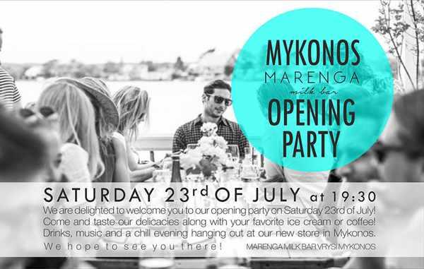 Marenga Milk Bar at the MyMall Mykonos