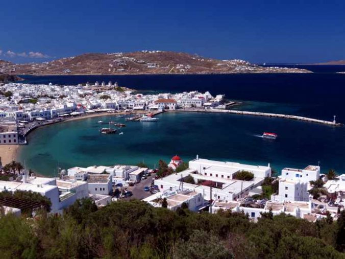 Mykonos Town and harbourfront
