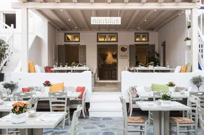 Nautilus restaurant on Mykonos