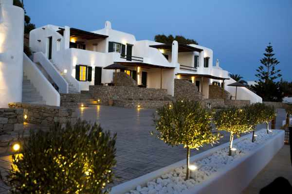 Seethrough Mykonos resort building photo