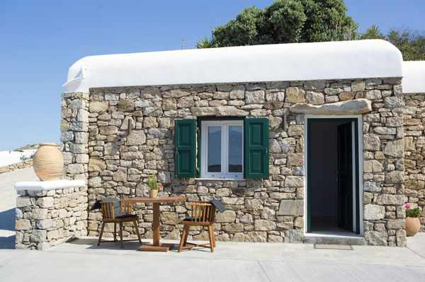 Seethrough Mykonos resort reception