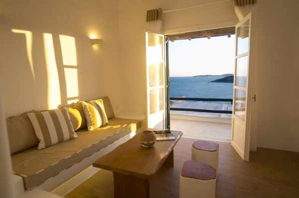 Seethrough Mykonos resort room interior