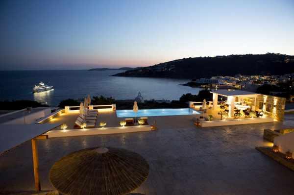 Seethrough Mykonos swimming pool