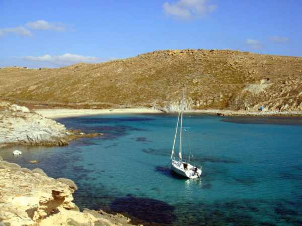 Rhenia island photo by Set Sail Mykonos