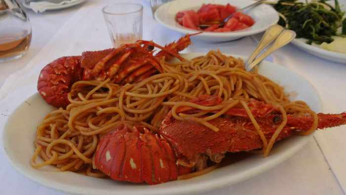 Skyros lobster with pasta