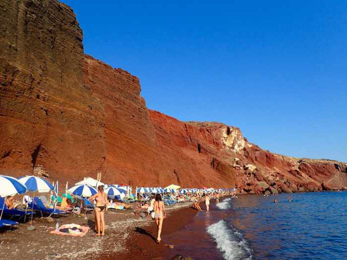 Red Beach Santorini photo by Aaron Coad