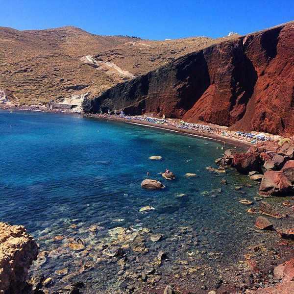 Red Beach Santorini photo by Anna Marie Lanzanas