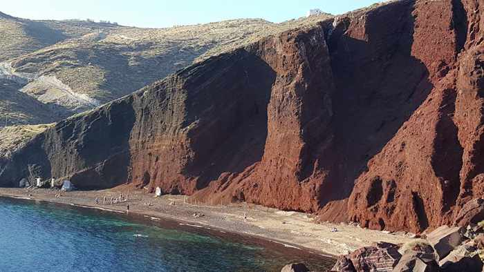 Red Beach Santorini photo by Cecil Ramirez