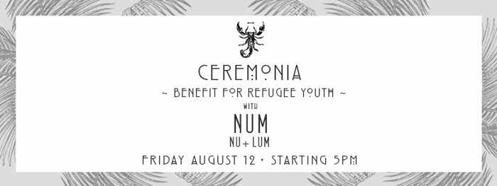 Ceremonia benefit for refugee youth at Scorpios