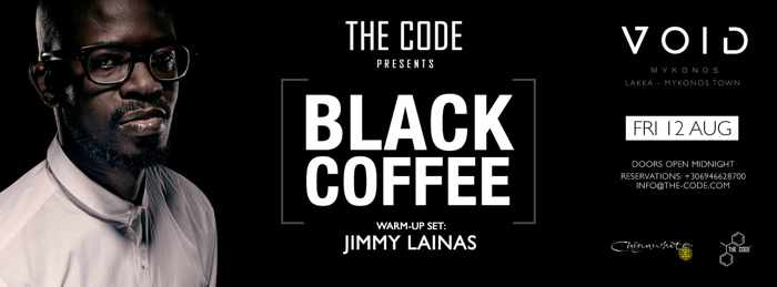 VOID nightclub Mykonos presents Black Coffee