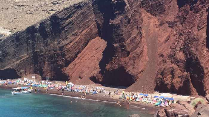 Red Beach Santorini photo by Daena K Nicholas