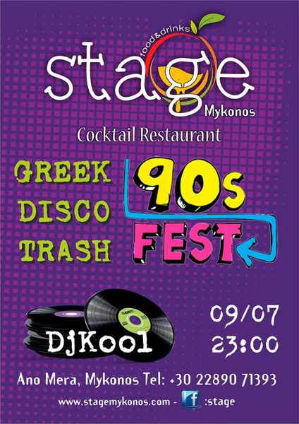 Stage cocktail bar Mykonos party event