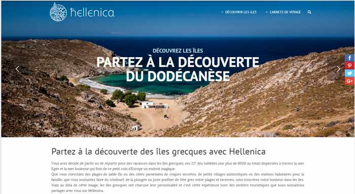 Hellenica French language guide to Greece travel
