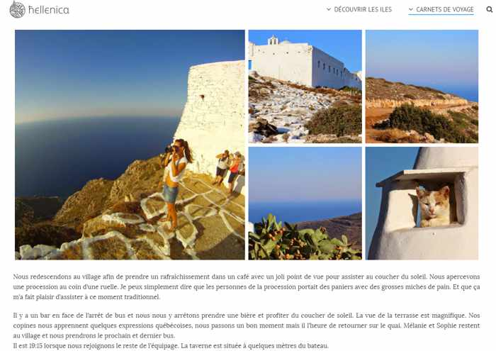 Hellenica French language travel guide to Greece