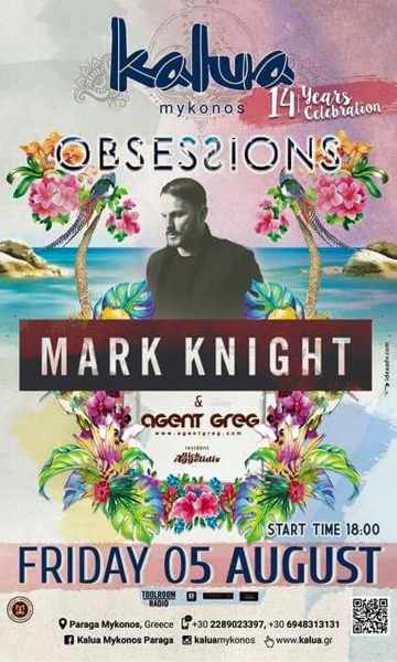 kalua bar Mykonos presents Mark Knight