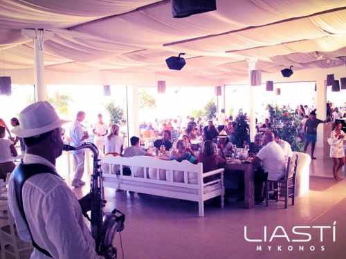 Liasti beach resort Mykonos live jazz entertainment