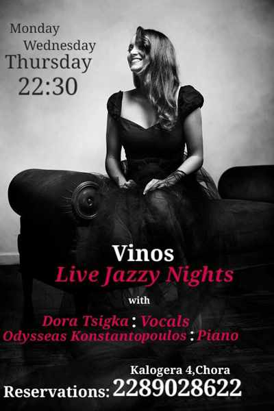 Vinos Bar Mykonos live jazz event