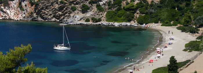 Pefkos beach on Skyros