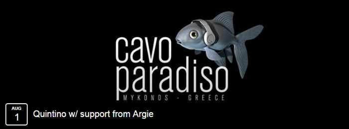 Cavo Paradiso Mykonos party event