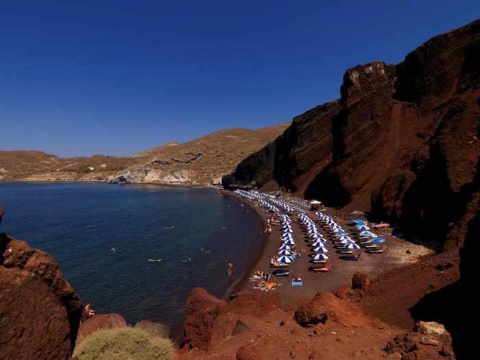 Red Beach Santorini: Beauty & danger | MY GREECE TRAVEL BLOG