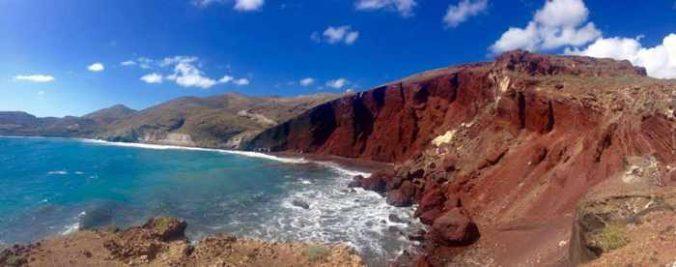 Red Beach Santorini photo by Geeta Patel