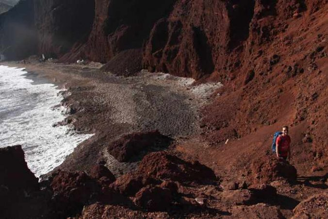 Red Beach Santorini photo by Shannon Sullivan