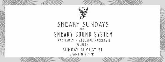 Sneaky Sundays event at Scorpios Mykonos