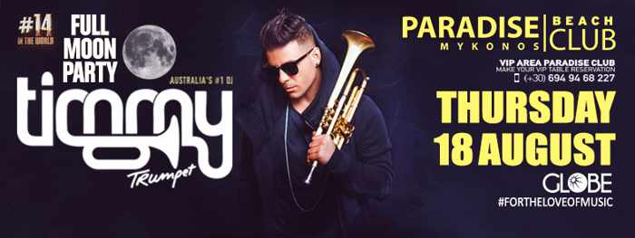 Paradise Club presents Timmy Trumpet