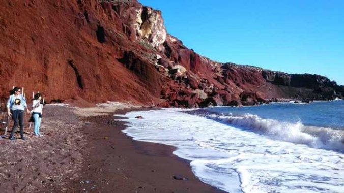 Red Beach Santorini photo by Wallace de Paula