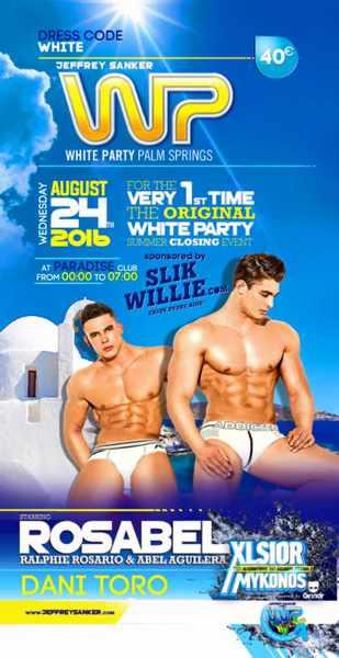 XLSIOR Mykonos Festival 2016 White Party Palm Springs