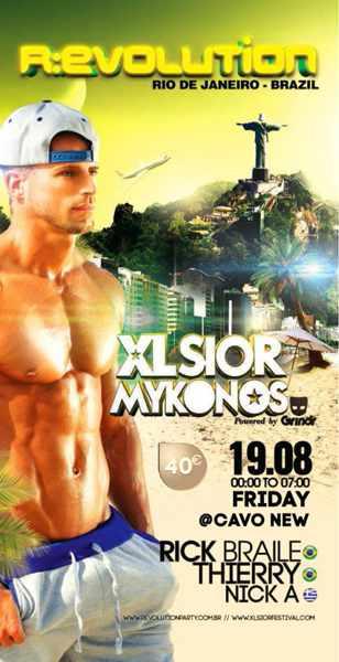 XLSIOR Mykonos Revolution party 2016