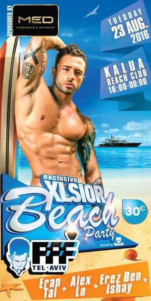 XLSIOR Mykonos beach party at Kalua