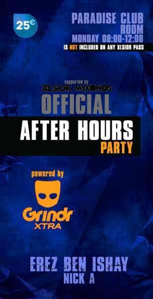 XLSIOR Mykonos official After Hours Party