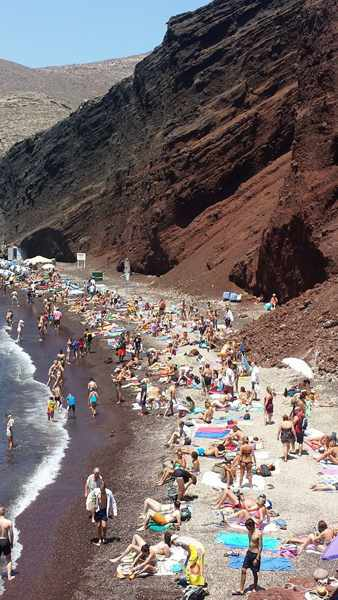 Red Beach Santorini photo by Xristos Mk