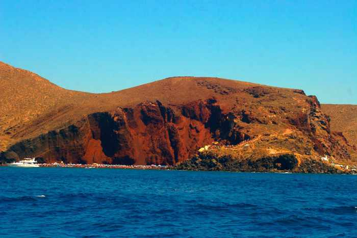Red Beach Santorini photo by YesSail