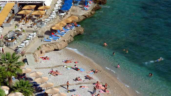 Arvanitia beach at Nafplio