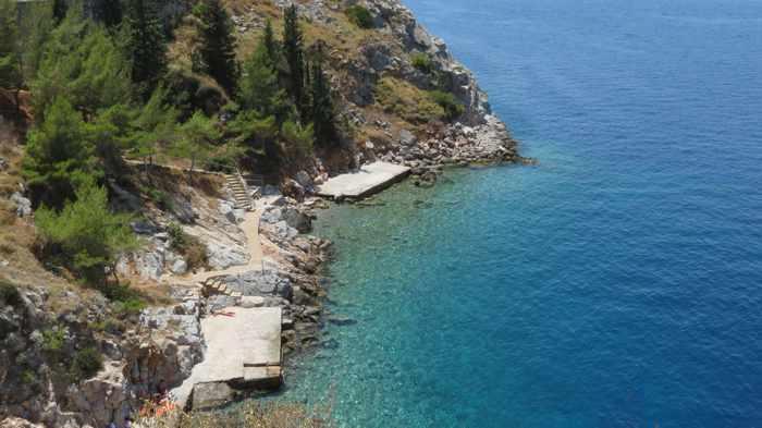 Avlaki beach at Hydra