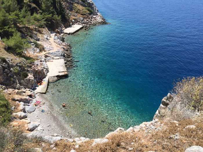 Avlaki beach on Hydra