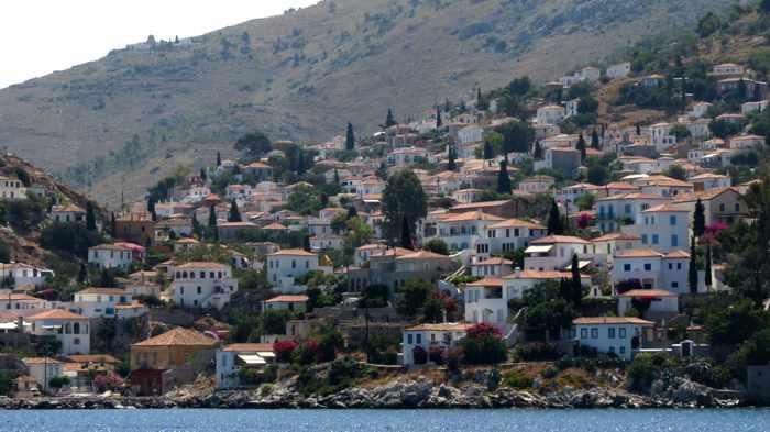 Hydra Town on Hydra island