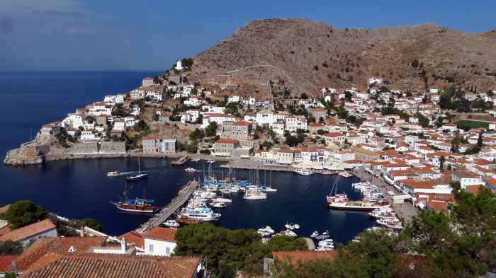 Hydra Town and harbour