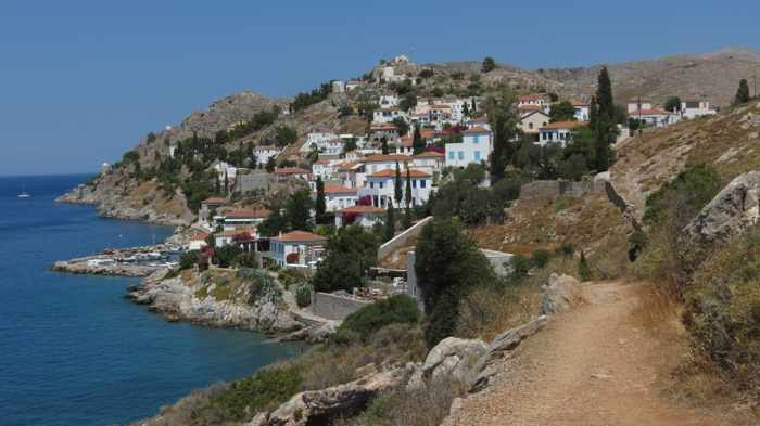 Kamini village on Hydra