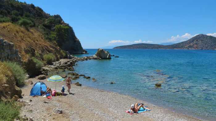 Ancient Asini beach near Tolo