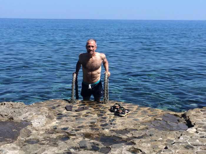 swimming spot at Monemvasia castle