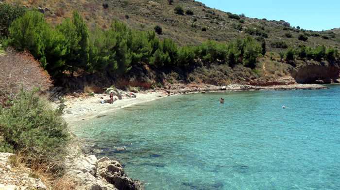 Neraki beach near Nafplio