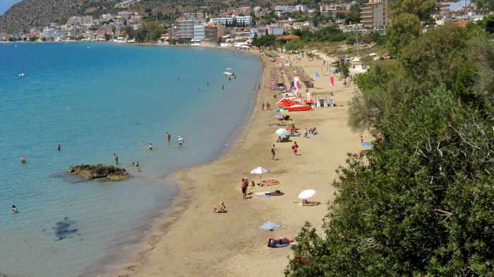 Psili Ammos beach at Tolo