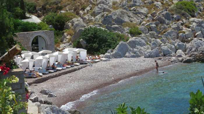 Small Kamini beach on Hydra