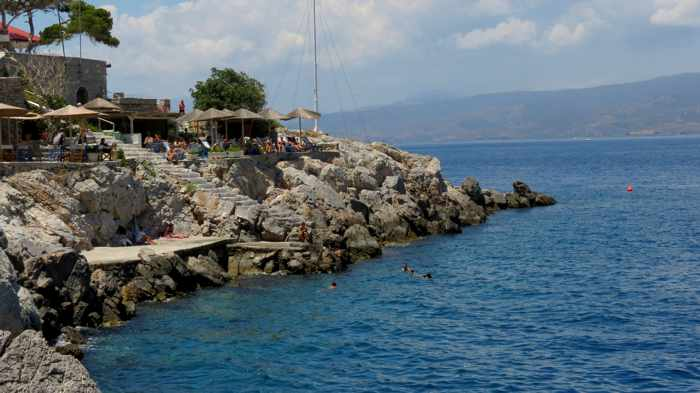 Spilia swimming area at Hydra