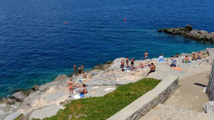Spilia beach on Hydra