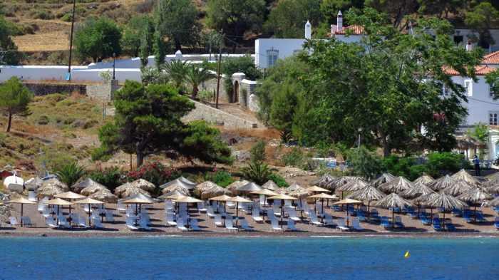 Vlychos beach on Hydra